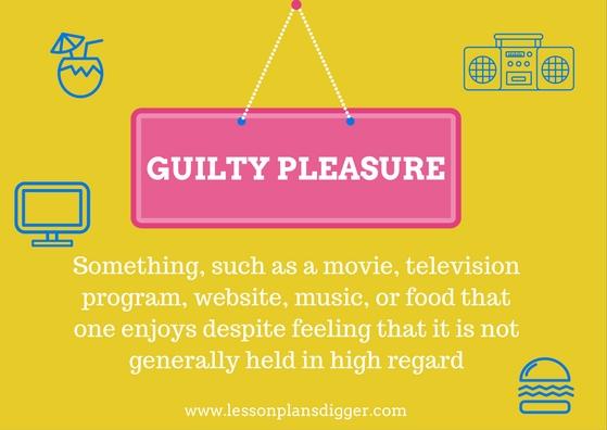 5 Minute Speaking Activity Guilty Pleasures
