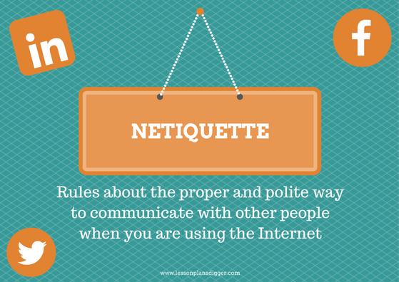 5 Minute Speaking Activity Netiquette