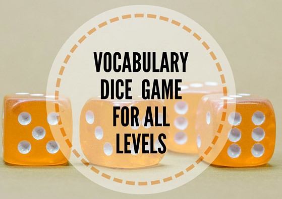 Vocabulary dice game for all levels
