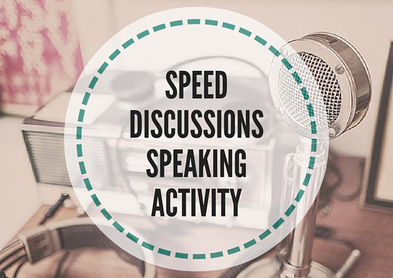 Speed dating speaking activity
