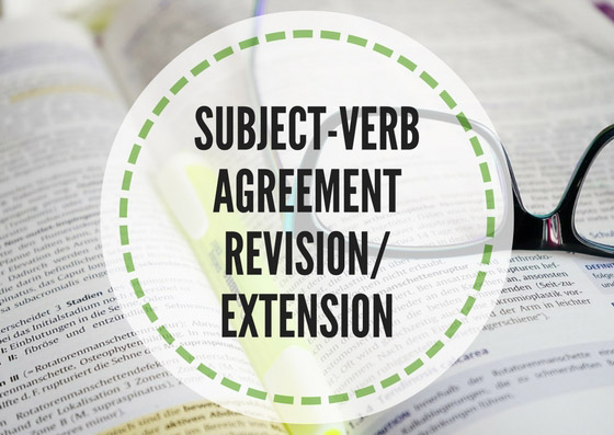 Subject Verb Agreement Revisionextension