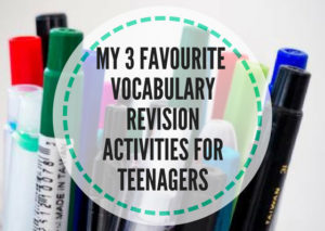 vocabulary revision activities for teens