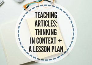 teaching articles